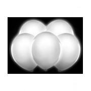 Set 5 Baloane iluminate LED albe
