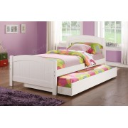 2 pc Trista collection white finish wood twin trundle bed