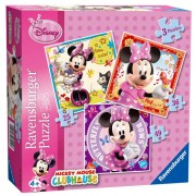 PUZZLE MINNIE MOUSE, 3 BUC IN CUTIE, 25/36/49 PIESE (RVSPC07244)