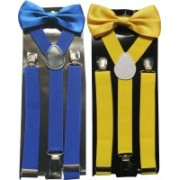 Swarn Y- Back Suspenders for Men(Blue, Yellow)