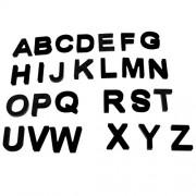 IJARP Black EVA Magnetic Alphabet/Letters Fridge Magnet Auto Car Stickers Children Educational Toys Home Accessories –26pcs Alphabet