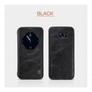 Samsung Galaxy S7 Edge Serie Qin Funda De Cuero Inteligente Negro
