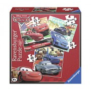 Puzzle 3 in 1 - Cars, 110 piese