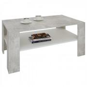 IDIMEX Table basse LORIENT, en mélaminé décor béton et blanc mat