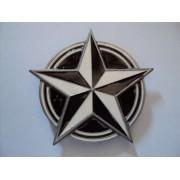 Hebilla estrella negra-blanca