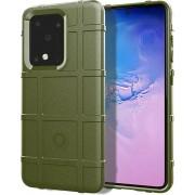 Samsung Galaxy S20 Ultra hoesje, Rugged shield TPU case, Groen - Telefoonhoesje geschikt voor: Samsung Galaxy S20 Ultra