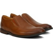 Clarks Broyd Step Tan Leather Slip On For Men(Tan)