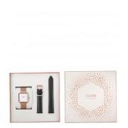 CLUSE Horloges Special Edition La Tetragone Rose Gold Mesh Zwart