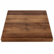 Bolero Pre-drilled Square Table Top Rustic Oak 700mm