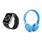 Zemini GT08 Smart Watch and SH 10 Bluetooth Headphone for LG OPTIMUS L1 II TRI(GT08 Smart Watch with 4G sim card camera memory card |SH 10 Bluetooth Headphone )