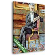 Paul Cézanne: Victor Chocquet ülő portréja (20x25 cm, Vászonkép )