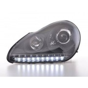 FK-Automotive fari Daylight allo xeno a LED con DRL look Porsche Cayenne anno di costr. 03-07 neri