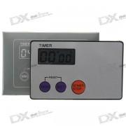 Tarjeta de credito Digital LCD c/ soporte magnetico - Gris