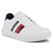 Sneakers TOMMY HILFIGER - Low Cut Lace-Up Sneaker T3B4-30922-0621 S White 100