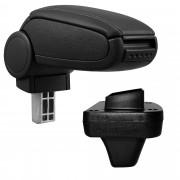 [pro.tec]® Středová loketní opěrka - Opel Astra K - koženkový potah - černá s černými švy