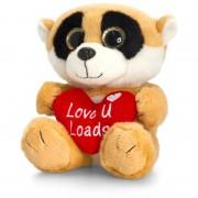 Animalut de plus cu pete Sparkle Eyes cu inimoara Keel Toys, 20 cm, Crem, 3 ani+