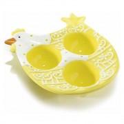 Platou ceramic Paste Gallina Yellow 3 oua