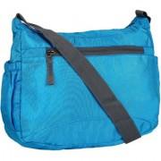 Favria Men Women Blue Polyester Sling Bag