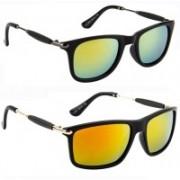 SRPM Wayfarer Sunglasses(Green, Red)