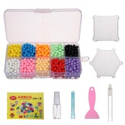 1100PCS Water Sticky Beads Magic Puzzle Kids Gift Fuse Sticky Bead 10 Colors