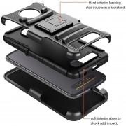 Funda Case Con Clip Para Motorola Moto Z2 Play Triple Protector De Uso Rudo Anti Shock