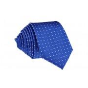 Pánská modrá puntikovaná slim kravata - 6 cm