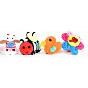 Chocozone Stylish Cartoons Wrist Bands for Kids ( 1 pc Flower Band with Thumbs up)