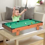 HomCom Mesa de Bilhar com Acessórios de Madeira para Crianças +3 Anos de idade e Adultos - 75x41,5x16,5 cm