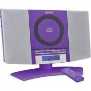 Denver MC-5220 Sistema stereo AUX, CD, FM, Montaggio a parete ;Viola