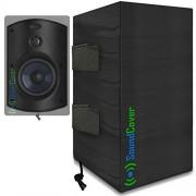 SoundCover 2 fundas compactas para altavoces para exteriores bolsas de protección y almacenamiento para Klipsch Kho-7, Polk Atrium 5, Herdio 5.25 pulgadas y Pyle 5.25 altavoces Bluetooth Tamaño máximo: 10,4 pulgadas de alto x 6,7 pulgadas de ancho x 8 d