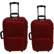 LUXOY XIPPER High Quality Imported Combo 24+20 Check-in Luggage - 24 inch(Maroon)