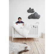 Lenjerie de pat bebe gri Baby Dan Love Birds 100x140 cm