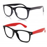 Ivonne Clear Wayfarer Sunglasses ( Black Red )