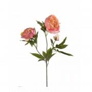 Geen Oranje pioenroos kunstbloem op steel 70 cm