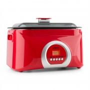 OneConcept Sanssouci, piros, Sous-Vide főző, lassú főzőedény, 5 l, 300 W (SVD2-Sanssouci-w)