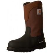 Carhartt CMP1259 Wellington Botas de trabajo para hombre, impermeables, con puntera de acero y piel, 28 cm, Marrón/Negro Leather, 9.5 Wide