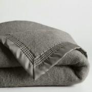 La Redoute Interieurs Cobertor 350 g/m² em pura lã virgem, Woolmark 350 gr/m²cinzento- 180 x 220 cm