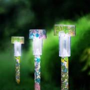 12 db Kerti napelemes LED virágmintás világítás 23 cm hideg fehér