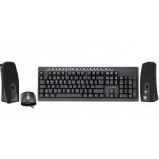 Kit de Teclado Mouse y Bocinas Acteck AK3-3000, Alámbrico, USB+PS/2, Negro
