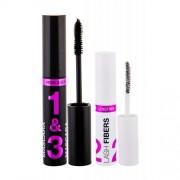 Wet n Wild Lash-O-Matic подаръчен комплект спирала 11 ml + удължаващи фибри за мигли Lash Fibers 1 g за жени Very Black