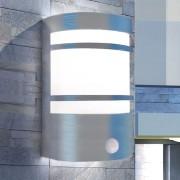 vidaXL Vonkajšie nástenné svetlo so senzorom, nehrdzavejúca oceľ