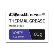Pasta termoconductoare , Qoltec , 1.42 W/m/K , 100g , alb