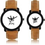GLOBALURJA White Automatic Couple Watch