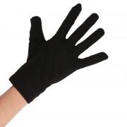 Geen Zwarte boeven verkleed handschoenen kort voor volwassenen
