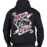 kapucnis pulóver férfi - Rat Bastard - BLACK HEART - BH096