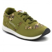 Goldstar Khaki Brown laceup Mens Running shoes