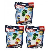 "Marvel Pixelated Pixel Heroes Original Minis Figure Blind Pack Lot of 3 Packs ""Contains 3 Random Mystery Figures"""