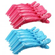 6Pcs Crocodile Hairdressing Sectioning Clamps Hair Clips Hairpin Grip Salon Tool