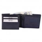 Blå herrplånbok i äkta läder