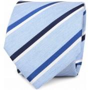 Krawatte Seide Blau Streif - Blau